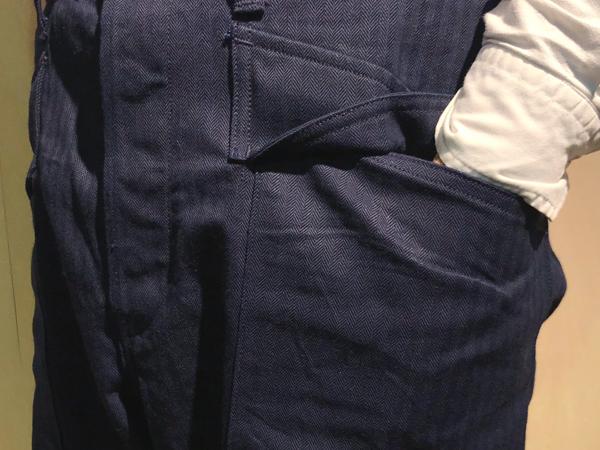 ナイジェルケーボン(NIGEL CABOURN)の40's ネイビーデッキパンツ